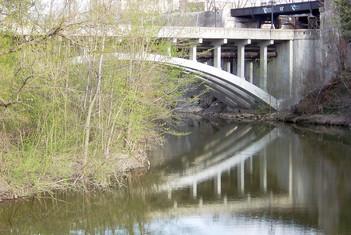 Bridge Reflection in Spring