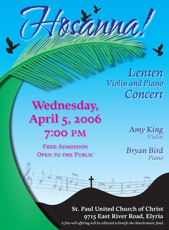 Hosanna! Concert Flyer