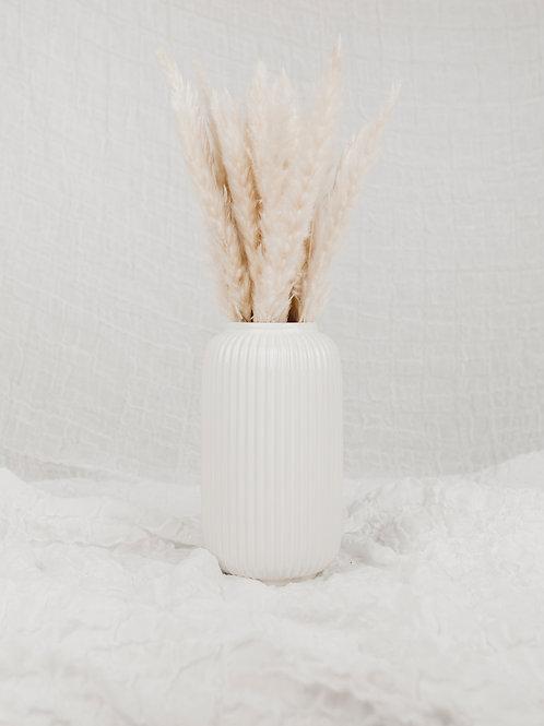 Vase gerippt | weiß