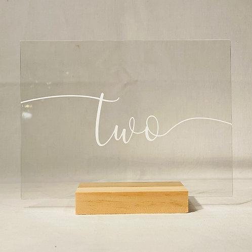 Tischnummern I transparent I 1-12