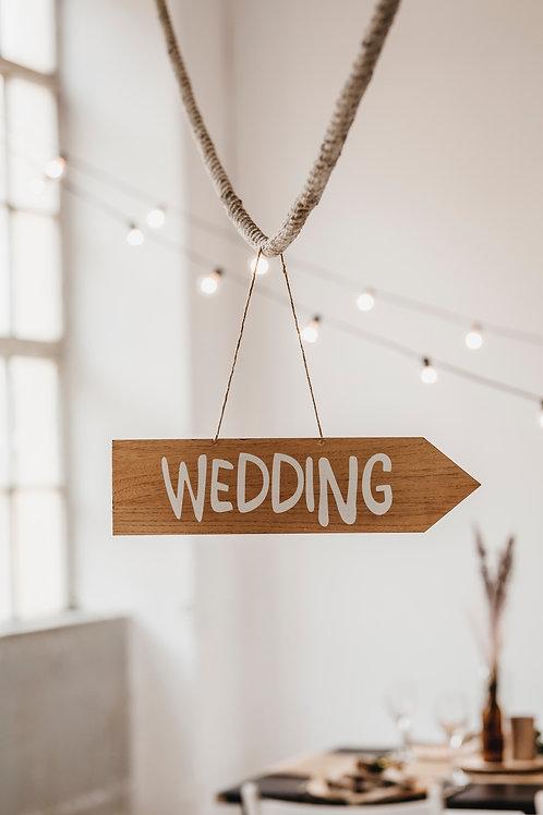 Holzschild   Wedding