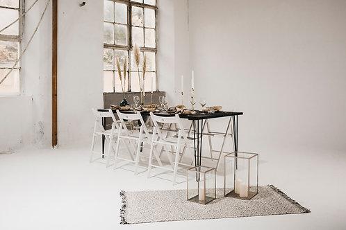 Teppich   schwarz-weiß