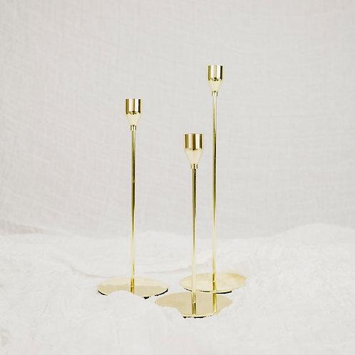 Kerzenständer 3er Set   gold