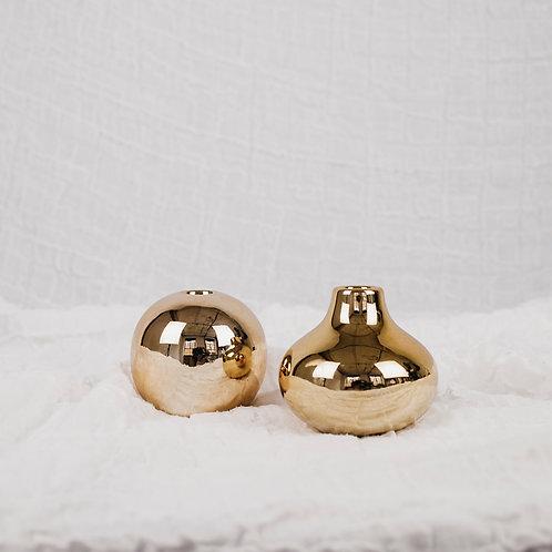 Kerzenständer   gold   klein