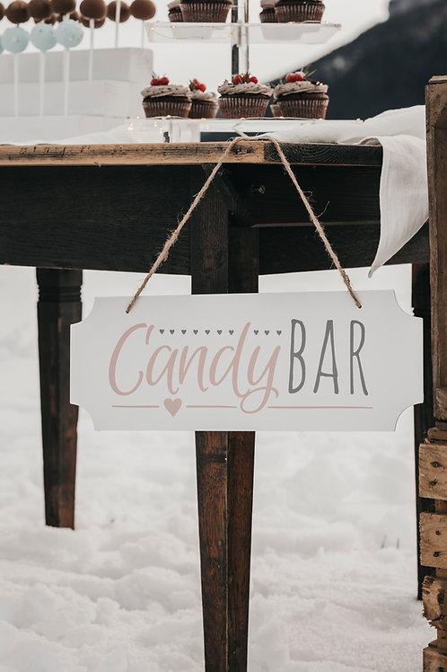 Schild Candy Bar
