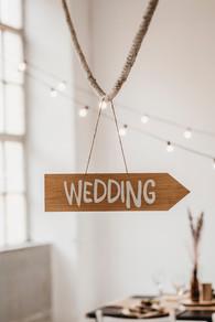 Wedding Schild