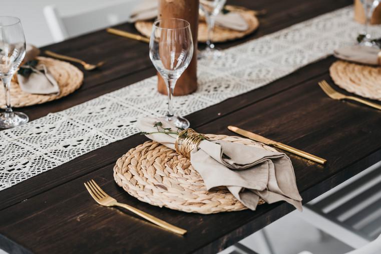 Tischgedeck im Boho Stil