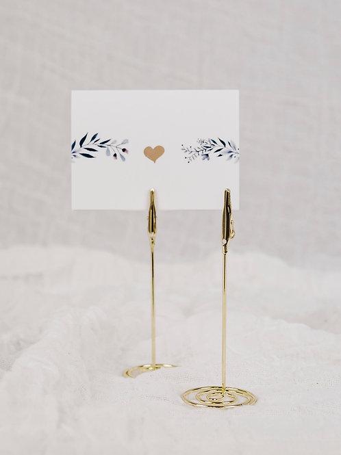 Tischkartenhalter | gold