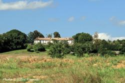 Castéron-la chartreuse+église vue depuis Gaudonville
