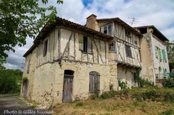 Mauroux-maison à colombages
