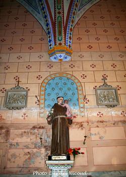 statue St-Antoine-église St-Créac-pic Gi