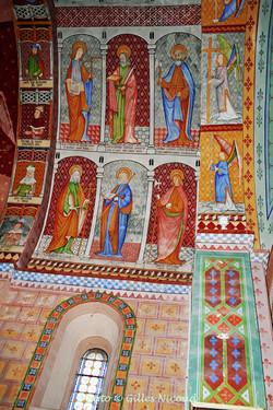 fresques mur Sud-église St-Créac-pic Gil