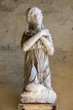Castéron-église-détail sculpture-1