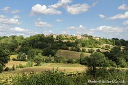 Isle-Bouzon vue panoramique du village .