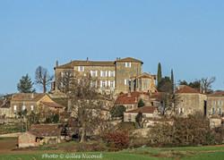Marsac-château vu d'en bas
