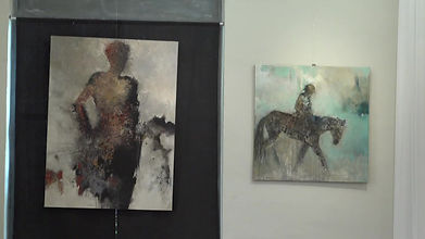 Interview de l'artiste-peintre Christine Couderc à l'Arcade