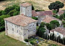 Plieux-vue aérienne du château