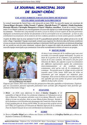 Journal municipal de Saint-Créac 2020-co