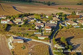 Village Saint-Créac-vue ULM sud-pic Gill