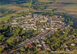 Saint-Clar-vue aérienne du village