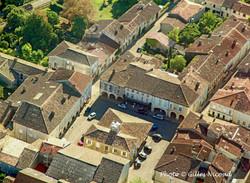 Saint-Clar-vue aérienne centre village