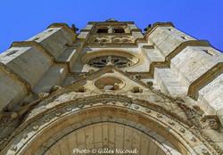 Saint-Clar-fronton église Saint-Clair
