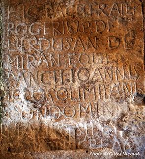 pierre tombale Rogerius de VERDUSAN de M
