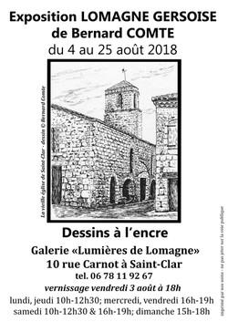 Affiche expo B.Comte-LdL-août18-StClar