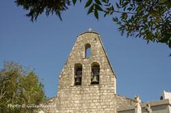 Castéron-clocher mur de l'église