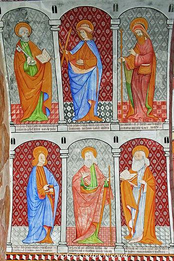 église St-Créac-6 apôtres mur Nord-pic G