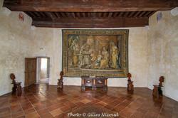 Gramont-château salle des gardes-tapisse