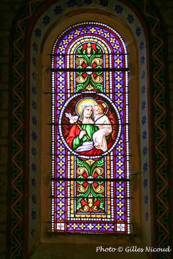 vitrail Jésus+ange-transept Sud-église S