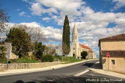 Saint-Léonard-rue principale+église