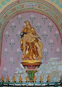 pietà en bois doré-église St-Créac-Gille
