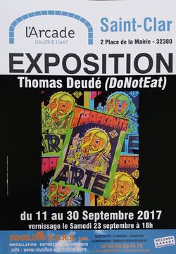 Galerie_d'Art_l'Arcade_Saint-Clar_affiche_Thomas_Deudé-170911