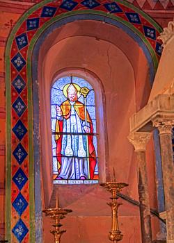 vitrail St-Loup3-église St-Créac-pic Gil