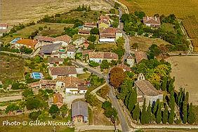 Village Saint-Créac-vue ULM est-pic Gill