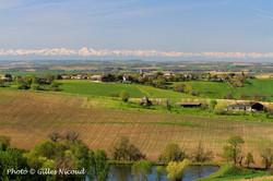 Castéron-vue sur Gaudonville et les Pyrénées