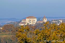 Gramont-chateau+église vu depuis StCréac