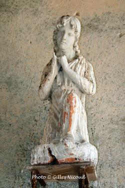 Castéron-église-détail sculpture-2