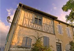 Saint-Clar-maison à colombages
