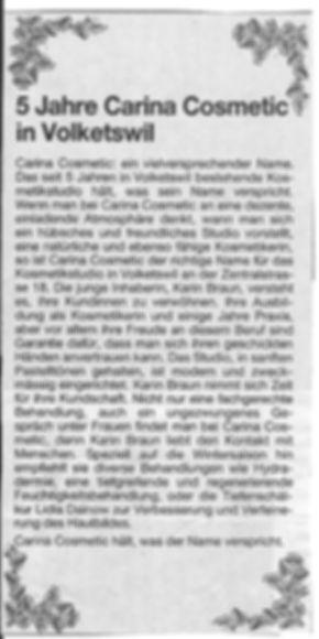 Carina Kosmetik, Volketswil