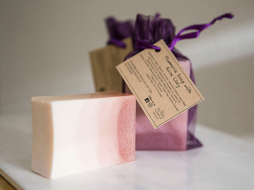 Plumeria with Rose Clay Soap