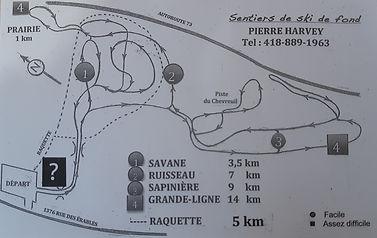 Carte des sentiers de ski de fond St-Lambert-de-Lauzon
