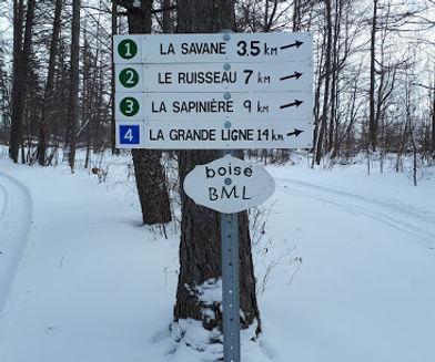 Carte sentiers ski de fond St-Lambert-de-Lauzon