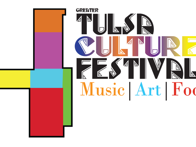 Festival logo, depicting te myriad of cultures in Tulsa OK.