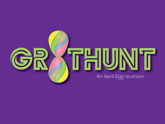 Easter themed title card for scavenger hunt