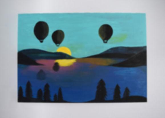 Air Balloon and Lake
