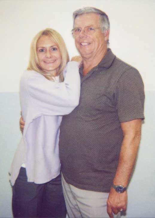 Pamela and her dad, John