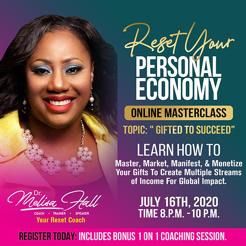 Reset Your Personal Economy Online Masterclass